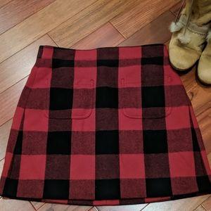 J.Crew Buffalo Plaid Skirt